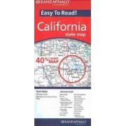 Easy to Read! California by Rand McNally