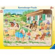 Puzzle adapost de cai, 13 piese, RAVENSBURGER Puzzle Copii