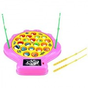 Deep Sea Shell Fishing Game for Children Battery Operated Rotating Novelty Toy Fishing Game Play Set w/ 21 Fishes 4 Fis
