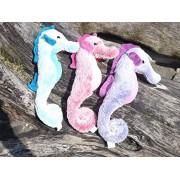 Pastel Colored Plush Toy Seahorse Set Set Of 3 Hanging Stuffed Seahorses