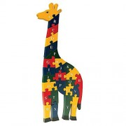 Bits and Pieces - Wooden Alphabet Giraffe - Learn Letters and Numbers - Colorful, Non-Toxic Paint by Bits and Pieces