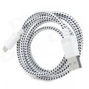 USB 2.0 to Micro USB Data/Charging Woven Cable for Google Nexus 7 / Nexus 7 II - White (100CM)