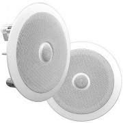 Pyle PDIC60 In-Wall / In-Ceiling Dual 6.5-Inch Speaker System Directable Tweeter 2-Way Flush Mount White (Pair)