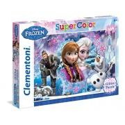 """Clementoni """"Frozen"""" Glitter Puzzle (104 Piece), 19.09 x 13.19"""""""