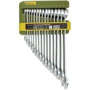 Proxxon 23821 SlimLine-Ring-Maulschlüsselsatz mit Halter, 15-teilig