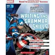 Marvel Workbook: Captain America Level 1 Writing and Grammar Skills