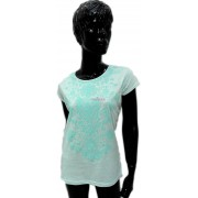 Tricou menta cu model abstract