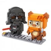 munecos de particulas Vader y construccion Waikit bloques de juguetes educativos