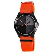 Nixon A344-1178 The Quad Neon Orange Watch