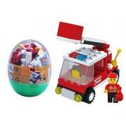 IBEST 6 Pack Building Brick Blocks Assemble Play Vehicles Toys Mini transportation Series NOT LEGO