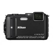 "Nikon Coolpix AW130 Cámara digital compacta de 16 MP (pantalla de 3"", zoom optico 4x) negro kit con funda silicona, soporte bici y cinta de pecho"