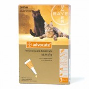 Advocate Spot On 40 For Kittens & Small Cats 4 Kg or Less 3 Doses