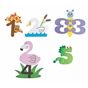 Learn Numbers 1 to 5, Number Animal Crafts Set, 5 Number Paper Art Kits Bundle