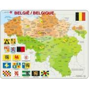 Puzzel België met provincievlaggen | Larsen