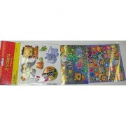 Sticker Medley ~ Combination of 3D Laser and Paper Stickers (Safari Animals; 174 Stickers)