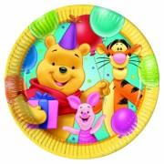 Micimackós parti tányér - nagy - sárgás