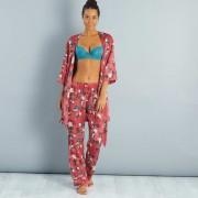 Satijnachtige pyjamabroek met Japanse