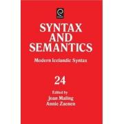 Modern Icelandic Syntax by Joan Maling