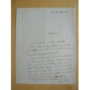 Belle Lettre Autographe Signée De Fernand Lot : Encore Un Nom À Qui Je Pense : Celui De Mme Kikou Yamata ... Elle Présenta Naguère À Quelques Poètes
