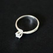 Anel de prata solitario