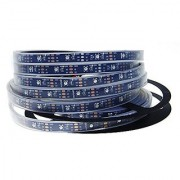 ALITOVE 16.4ft 150 Pixels WS2812B Individually Addressable RGB LED Flexible Strip Light Black LED Chip and PCB Programmable Dream Color 5050 LED Lamp DC5V Waterproof IP67