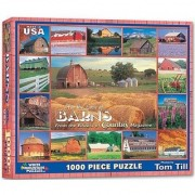 White Mountain Puzzles Country Barns