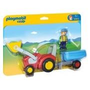 Playmobil 123 Boer met tractor en aanhangwagen - 6964