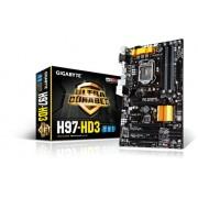 Gigabyte GA-H97-HD3 Scheda Madre, Nero