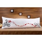 Almofada ou Travesseiro para Corpo Especial para o Dia dos Namorados - Bicicleta
