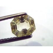 2.18 Ct Unheated Untreated Natural Ceylon Yellow Sapphire/Pukhraj