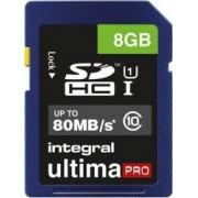 Card Memorie Integral MicroSDHC 8GB Clasa 10 insdh8g10-80u1