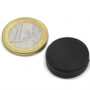 Magnet neodim disc, diametru 22 mm, putere 3,9 kg, ac. cauciuc