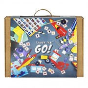 THINGS THAT GO! 6-in-1 Experimental DIY Kit for Boys: Contains 6 activities - mix of assembly, experiments, and board game