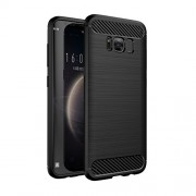 Galaxy S8 Plus Case, Flexible TPU Drop Protection and Faux Brushed Metal Design Cover for Samsung Galaxy S8 Plus / Samsung S8 Plus - Metallic Black