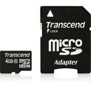 Card Transcend microSDHC 4GB Class 10 cu adaptor SD