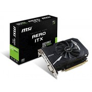 MSI GTX 1050 Ti AERO ITX 4G OC GeForce GTX 1050 Ti 4Go GDDR5 - cartes graphiques (NVIDIA, GeForce GTX 1050 Ti, 1341 MHz, 1455 MHz, 4 Go, GDDR5)