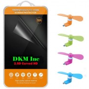 2.5D Curved Edge Clear HD Tempered Glass for Lava A89 with Micro USB OTG Fan