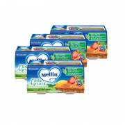 Mellin Omogeneizzati di frutta - Kit risparmio 4x Mela Agrumi - KIT 4x Confezione da 200 g ℮ (2 vasetti x 100 g)