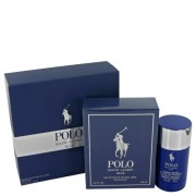 Ralph Lauren Polo Blue Eau De Toilette Spray 4.2 oz / 124 mL + Deodorant Stick 2.6 oz / 77 mL Gift Set Fragrances 402822