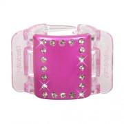 Linziclip Midi Hair Clip Haargummis für Frauen Haarklammer Farbton - pink-kristall