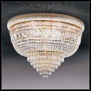 Luxus Kristall Deckenleuchte Osaka rund Empire Kronleuchter 24K Gold Barock D...