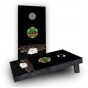 Custom Cornhole Boards Texas Hold'em No Limit Light Weight Cornhole Game Set CCB192-AW / CCB192-C Bag Fill: Whole Kernel Corn
