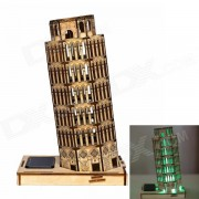 XiaoHaiTongXiang DIY Leaning Tower of Pisa Colored Drawing + Automatic Solar Light Sensation