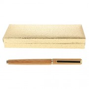 MagiDeal Bamboo Fountain Pen with Wooden Pen Storage Case Set Gift for Birthday Christmas