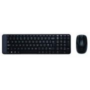 Kit tastatura+mouse Logitech Wireless Desktop MK220, negru