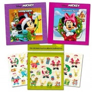 Disney Minnie Mouse Christmas Board Book Set For Kids Toddlers (Set of 2 Mini Holiday Board Books with Holiday Stickers)