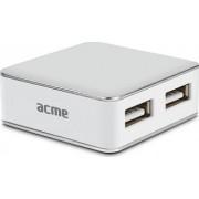 USB hub Acme HB430 Pure 4 x USB 2.0 Alb