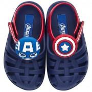 Grendene Kids Sandália Infantil Avengers Kawaii Capitão América Baby