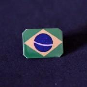 Bottom photo-Pin Stainless Steel Flag of Brazil