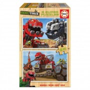 Educa Dinotrux fa puzzle, 2X25 darabos
